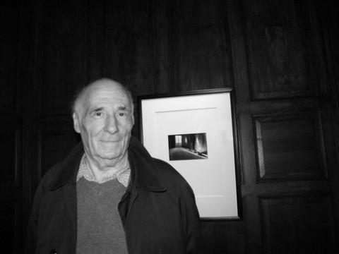 Jacques Roubaud était présent au venissage de l'exposition