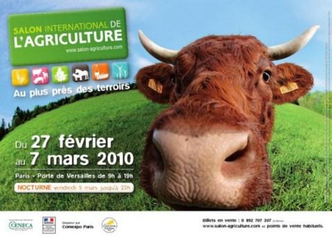Affiche du Salon de l'Agriculture 2010: Saïda, race Salers