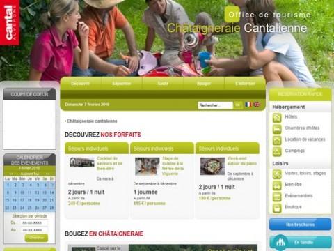 Office de tourisme de la Châtaigneraie, site internet