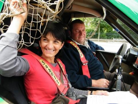Nadia Barbet co-pilote de Xavier Bretion sur Phil's Car Renault