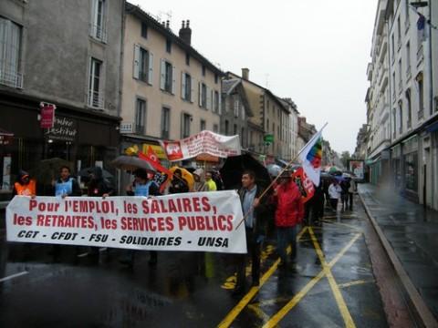Manifestation pour les retraites à Aurillac