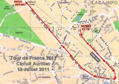 Circuit du Tour de France 2011 à Aurillac