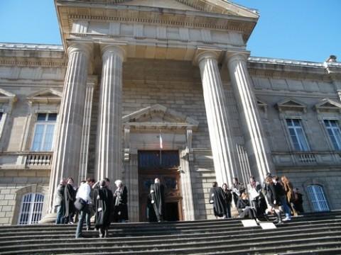 Grève des magistrats à Aurillac