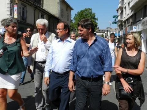 François Hollande au Festival d'Aurillac