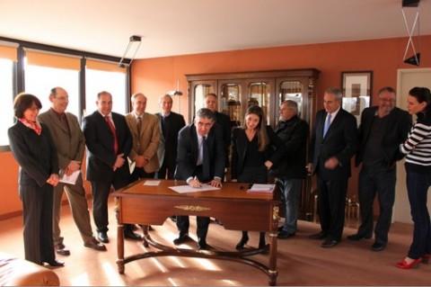 Signature de la charte pour la prévention et la gestion éco-responsable des déchets