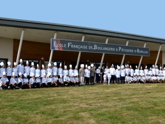Inauguration de l'École Française de Boulangerie et Pâtisserie à Aurillac dans le Cantal