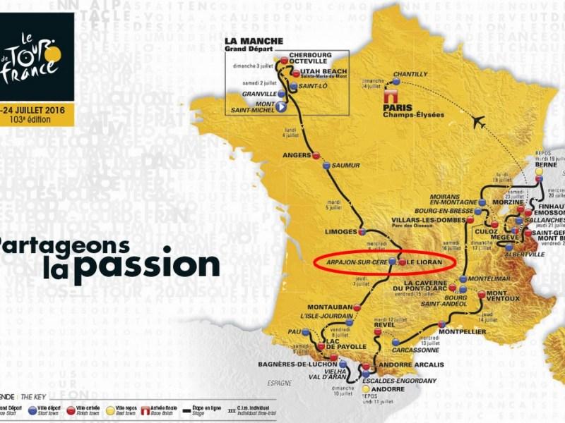 Tour de France au Lioran et Arpajon sur Cère dans le Cantal
