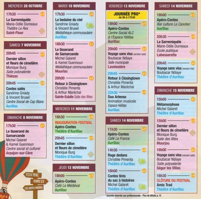 Programme des Rapatonadas 2015