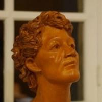visage 1 sculpture - exposition Francine Auvrouin 2016 - Espace Scipion- web