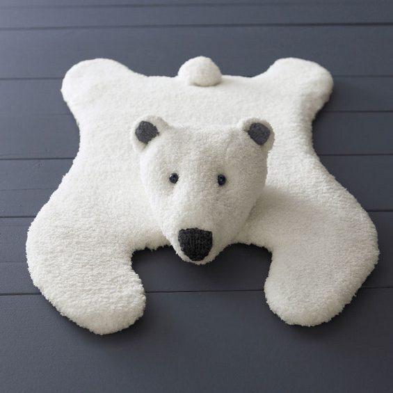 Modèle tapis ours jersey