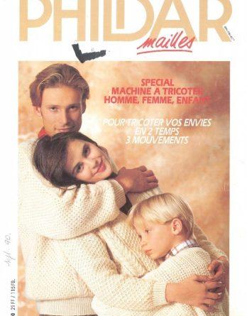 N° 190 PHILDAR spécial machine à tricoter année 1990_page_0001