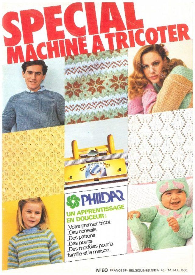 CATALOGUE PHILDAR SPÉCIAL MACHINE à TRICOTER N° 60
