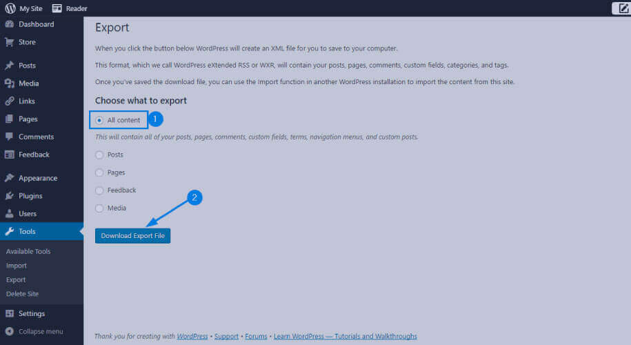 Export-data-from-wordpress-Step-4
