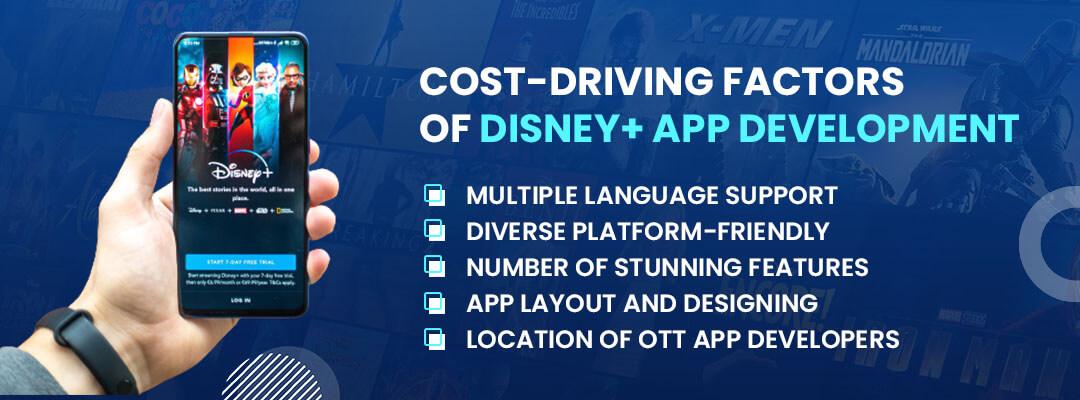 the cost-driving factors of Disney app development