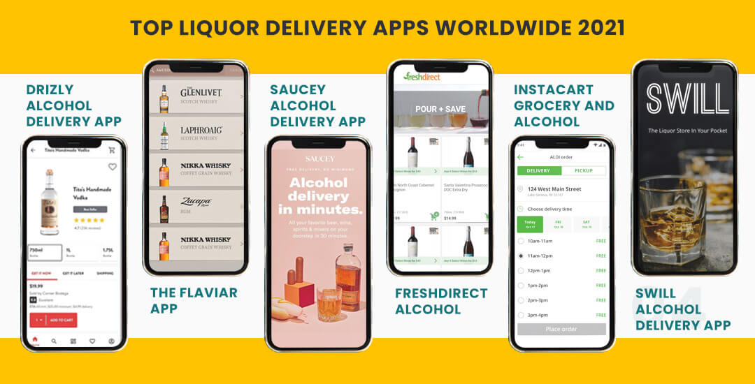 Top Liquor Delivery Apps Worldwide 2021