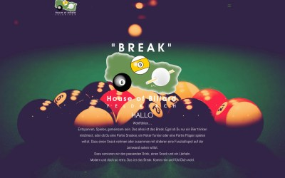 Website: Break House of Billard Version 2