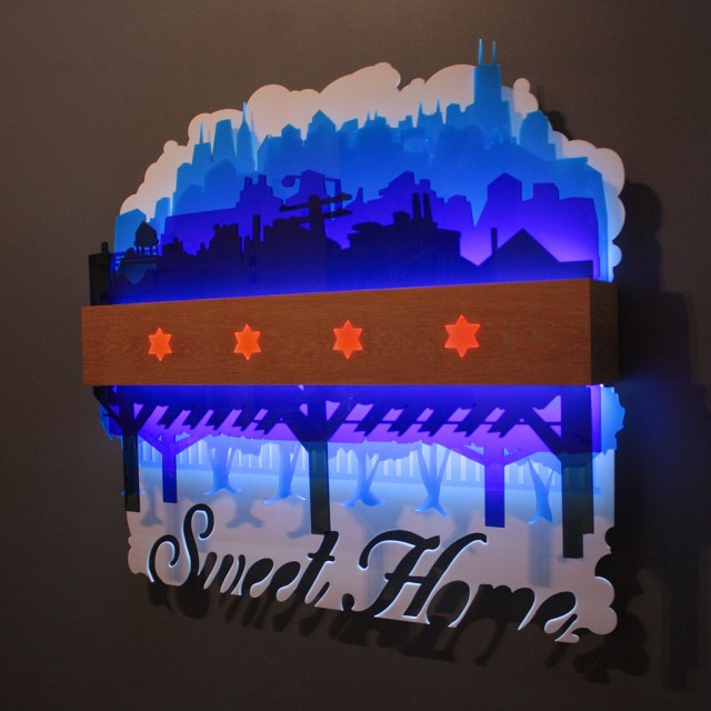 Chicago Flag Lightbox