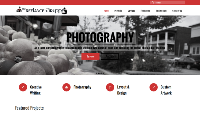 Home page image for website of Freelance Gruppe