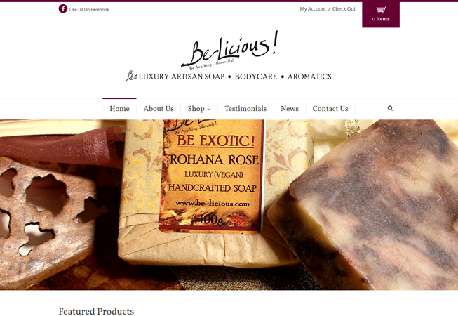 Home page for Be-Licious
