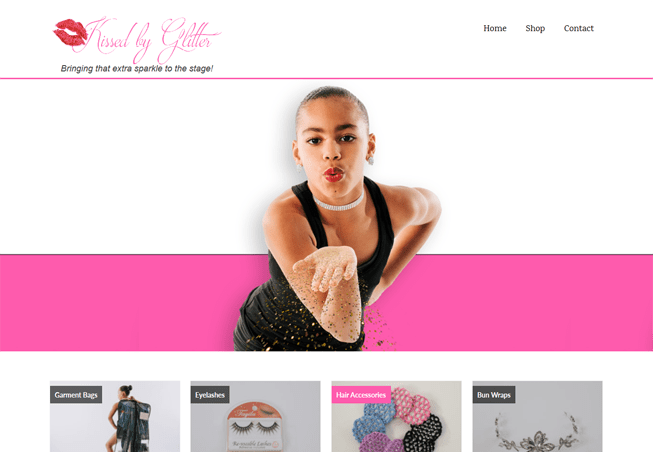 Home page for Kissed by Glitter