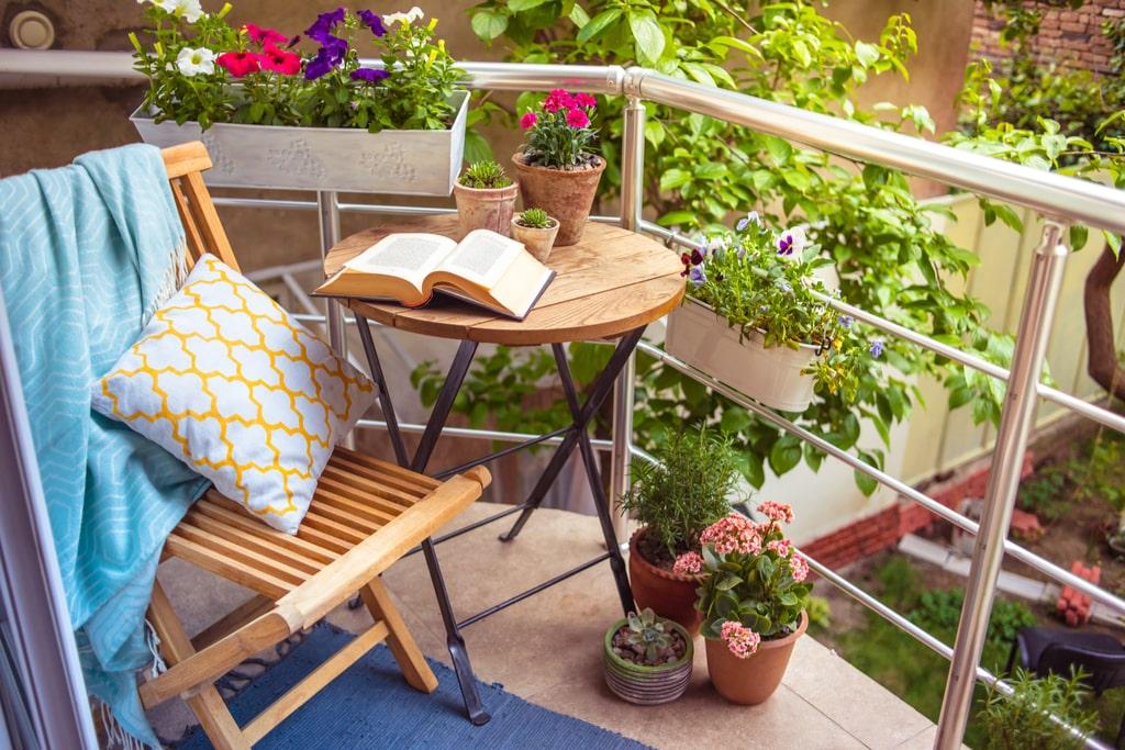 small apartment balcony