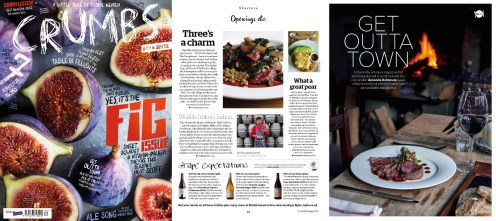 Crumbs magazine coverage for Wiltshire Pear Tree Inn PR launch
