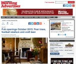 Morning Advertiser trade coverage for Wiltshire's Pear Tree Inn opening