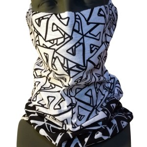 Black and White Tshield snowboard facemask from AVALON7