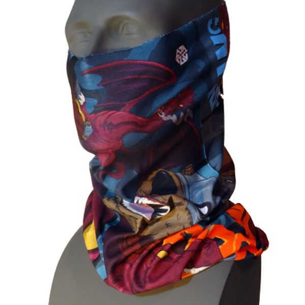 Purple Dragon Battle Tshield Facemask for Skiing and Snowboarding