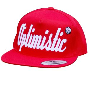 OPTIMISTIC RED SNAPBACK HAT BY AVALON7