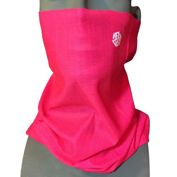 AVALON7 Solid Pink snowboarding faceshield- multifuncitonal adventure scarf