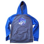 AVALON7 tech fleece hoodie blue majestic tetons
