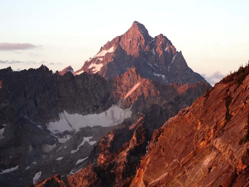 The Grand Teton from part way up Mt. Moran.