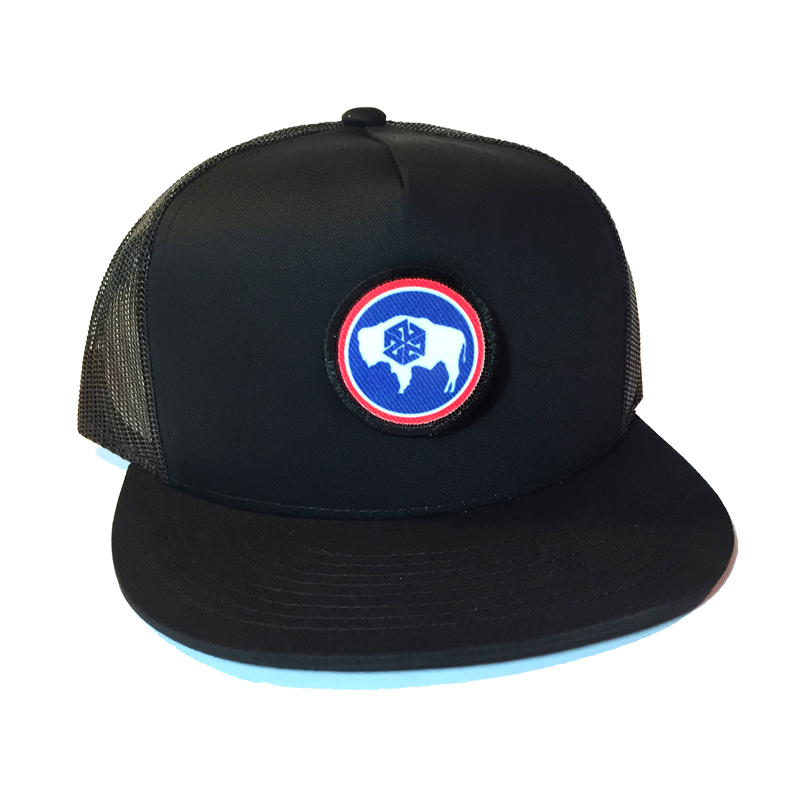 Avalon7 Wyoming bison color patch snapback hat