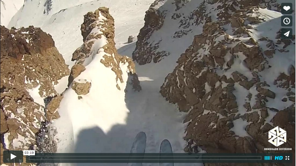 Dorian Densmore Skis Pow in Argentina- avalon7 renegade