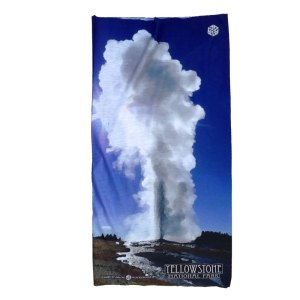 AVALON7 Yellowstone National Park bandana facemask Old Faithful design