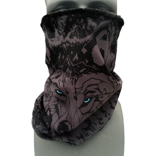 Black Wolf Fleece Neck Gaiter- Cam Fitzpatrick Pro Model
