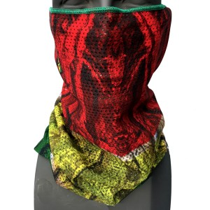 AVALON7 Rasta Wood Mesh Face Shield snowboarding facemask