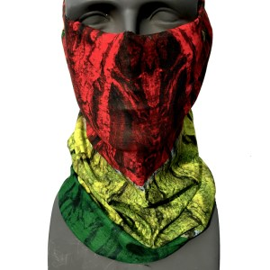 AVALON7 rasta wood snowboarding face mask tube for sun