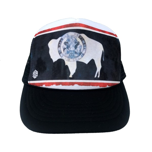 Wyoming Bison Flag trucker hat by AVALON7 Jackson Hole