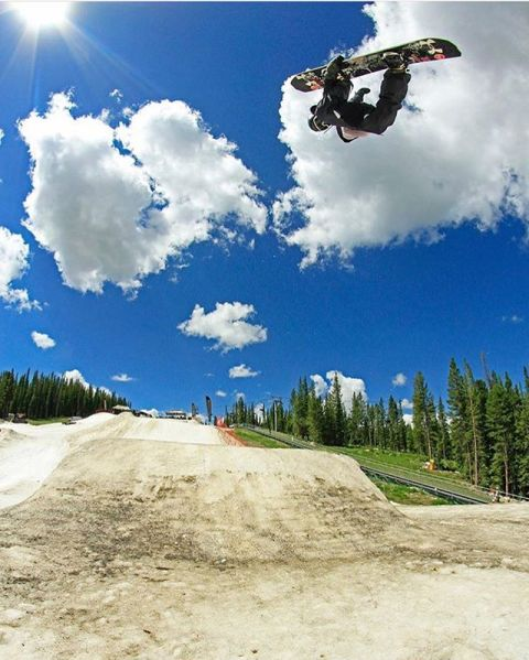 @camfitzpatrick getting his summer shred fix at @woodwardcopper last week. Photo: @chipproulx #LiveActivated #snowboarding #inspiredlife