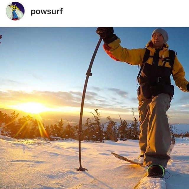 Dreaming about #powsurf right now. Godfather Jeremy Jensen is hard at work in SLC banging out his new splitsurf designs- preorder now or miss the boat! Www.powsurf.com  @avalon7 #liveactivated #splitsurfing