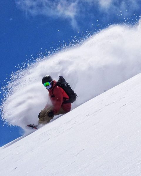 Soon… @cooperk on Powder8 face in the @jacksonhole backcountry. @avalon7 #liveactivated #snowboarding