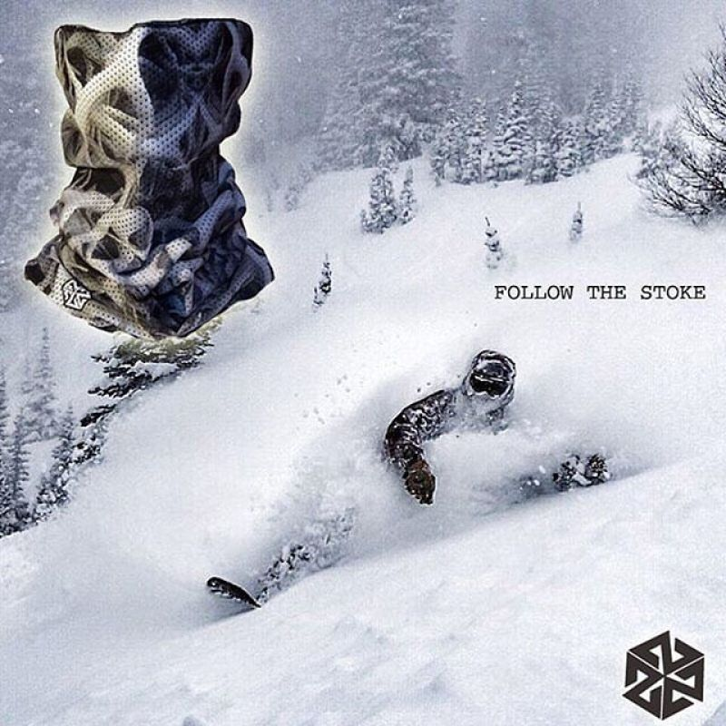 It's out there. #avalon7 #seekthestoke #snowboarding #facemasks