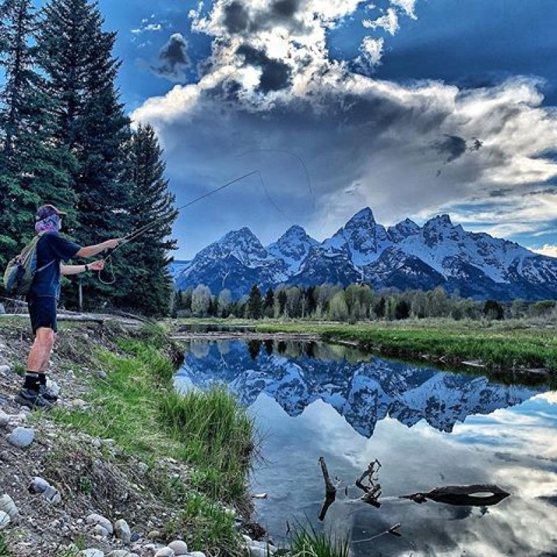 Seek serenity.  It's not always about catching the fish, it's about just being out there.  #AVALON7 #SeekTheStoke #Flyfishing #Tetons
