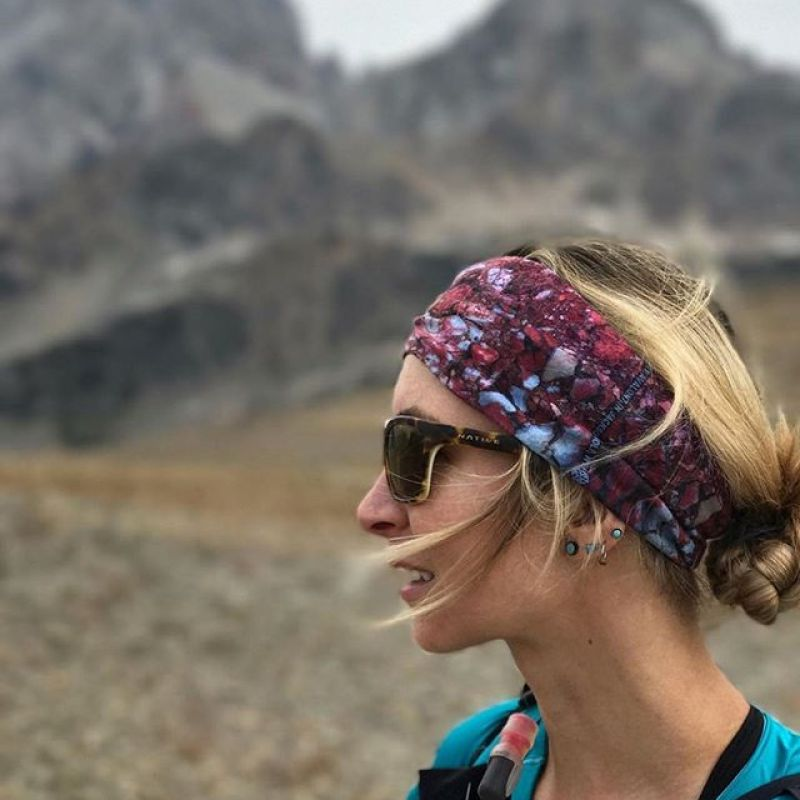 @kyehalpin out adventuring in the Tetons in our Gros Ventre optiscarf design worn as a headband.  follow her for art and adventures! #AVALON7 #inspireeachother #seekthestoke #hiking www.avalon7