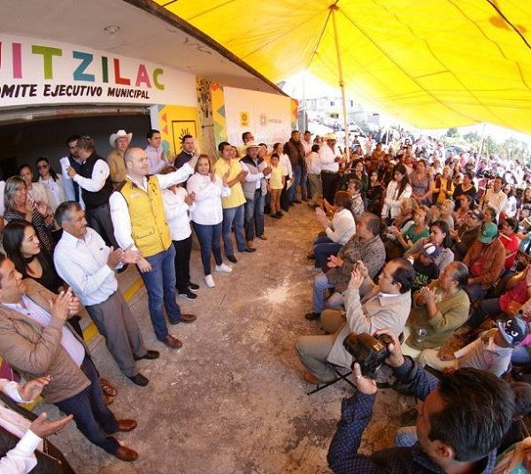 El líder del Sol Azteca visitó el municipio de Huitzilac