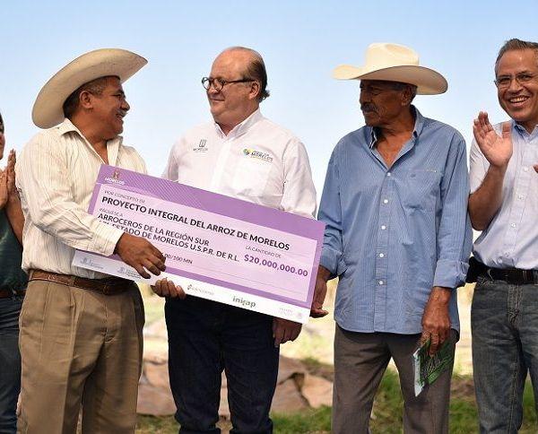 Proyecto Integral del Arroz del Estado de Morelos con una inversión de 20 millones de pesos