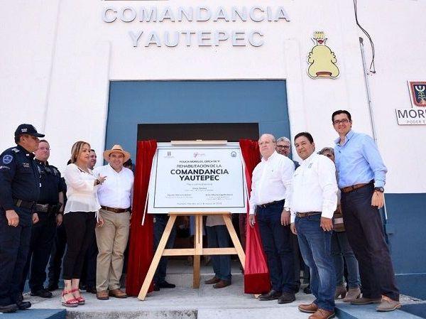 El gobernador Graco Ramírez inauguró la rehabilitación de la Comandancia de la Policía Morelos en Yautepec, desde donde recordó que seguridad es un proceso que debe continuar y está en manos de los ciudadanos su consolidación
