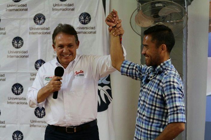 Participó como invitado en la conferencia que Gerardo Galindo Márquez impartió a estudiantes de la Universidad Internacional (UNINTER) en Cuernavaca. Allí el candidato subrayó la urgente necesidad de contar con espacios públicos, donde se promueva el deporte entre los jóvenes y se aviva la participación ciudadana en favor de las comunidades